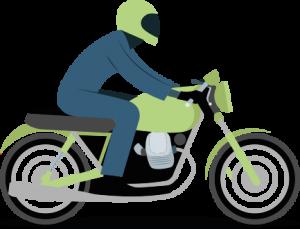 superbike with helmet 3